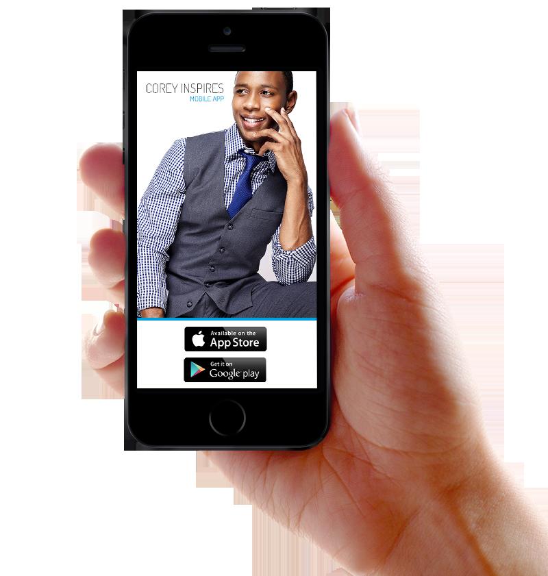 Corey Inspires Mobile App